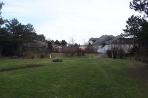 Blick aus dem Kurpark auf das Grundstück