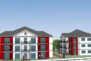 Häuseransicht nach Planung der Architekten...