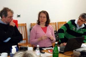 Frau Dr. Jasna Baumgarten von Ting Projekte (m) mit Christian Klüßendorf (l) und Ulf Jürgensen (r)